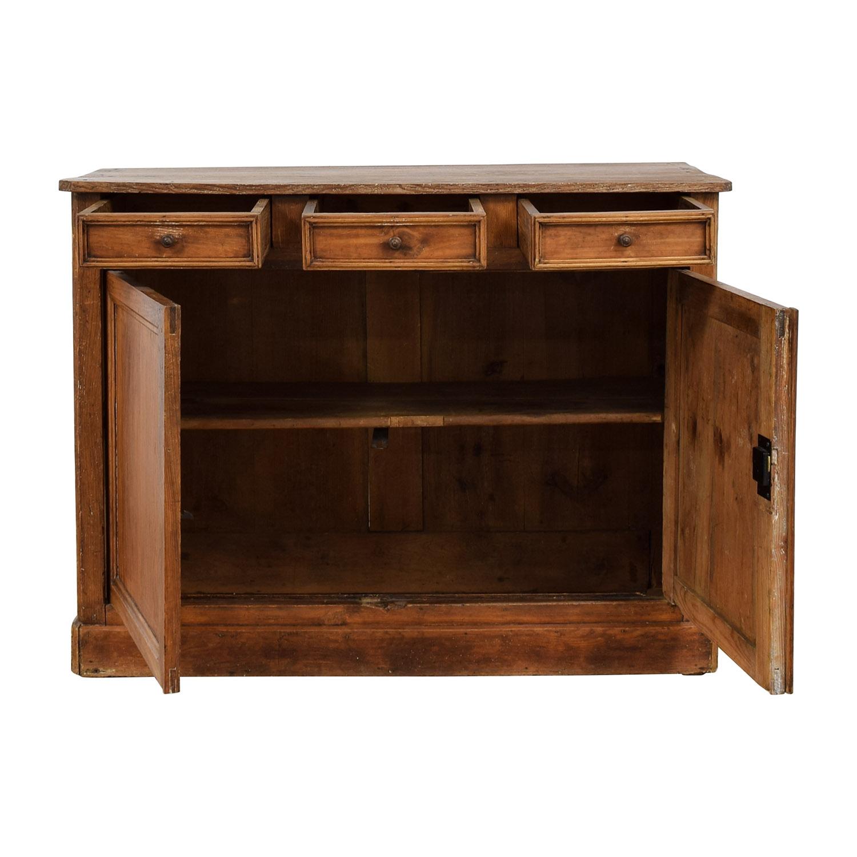 buy  Antique Wood Three-Drawer Hutch online