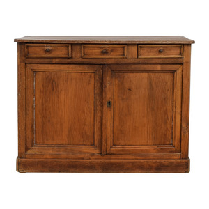 Antique Wood Three-Drawer Hutch coupon