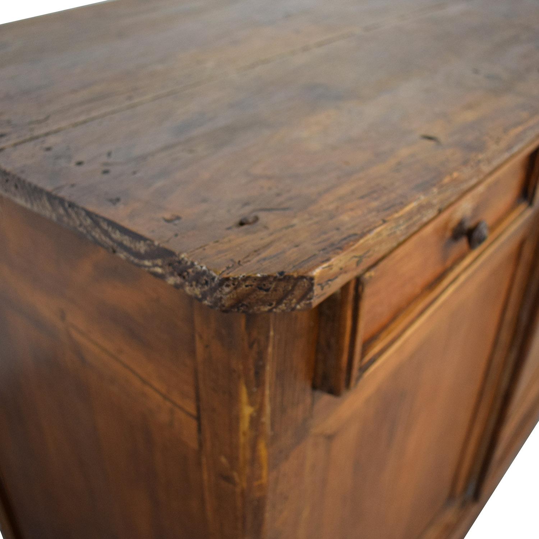 shop Antique Wood Three-Drawer Hutch  Storage