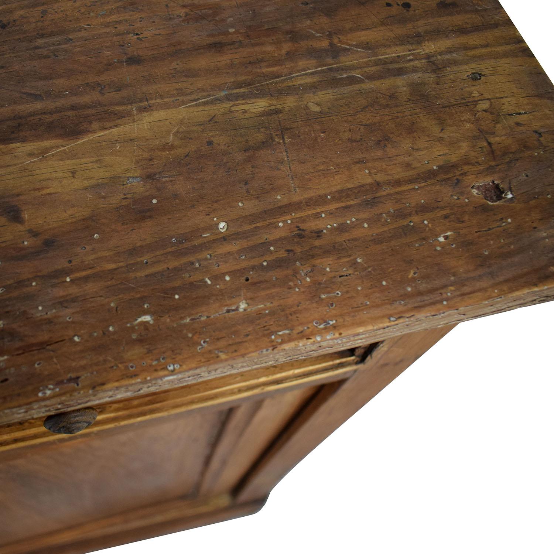 Antique Wood Three-Drawer Hutch Storage