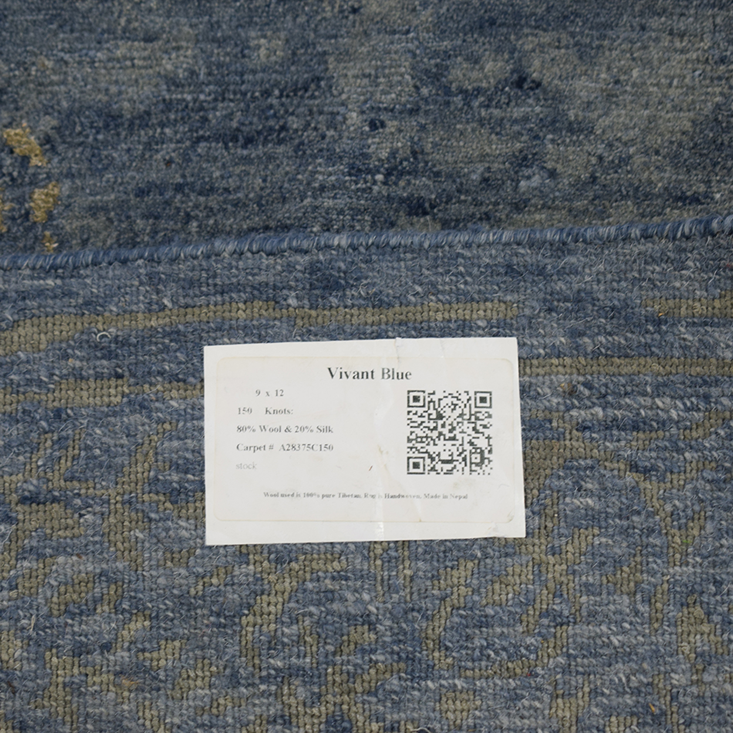 Nepalese Blue and Beige Rug on sale
