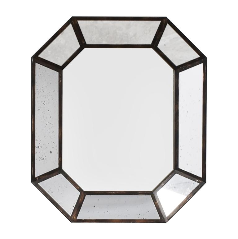 Vintage Geometric Wall Mirror used