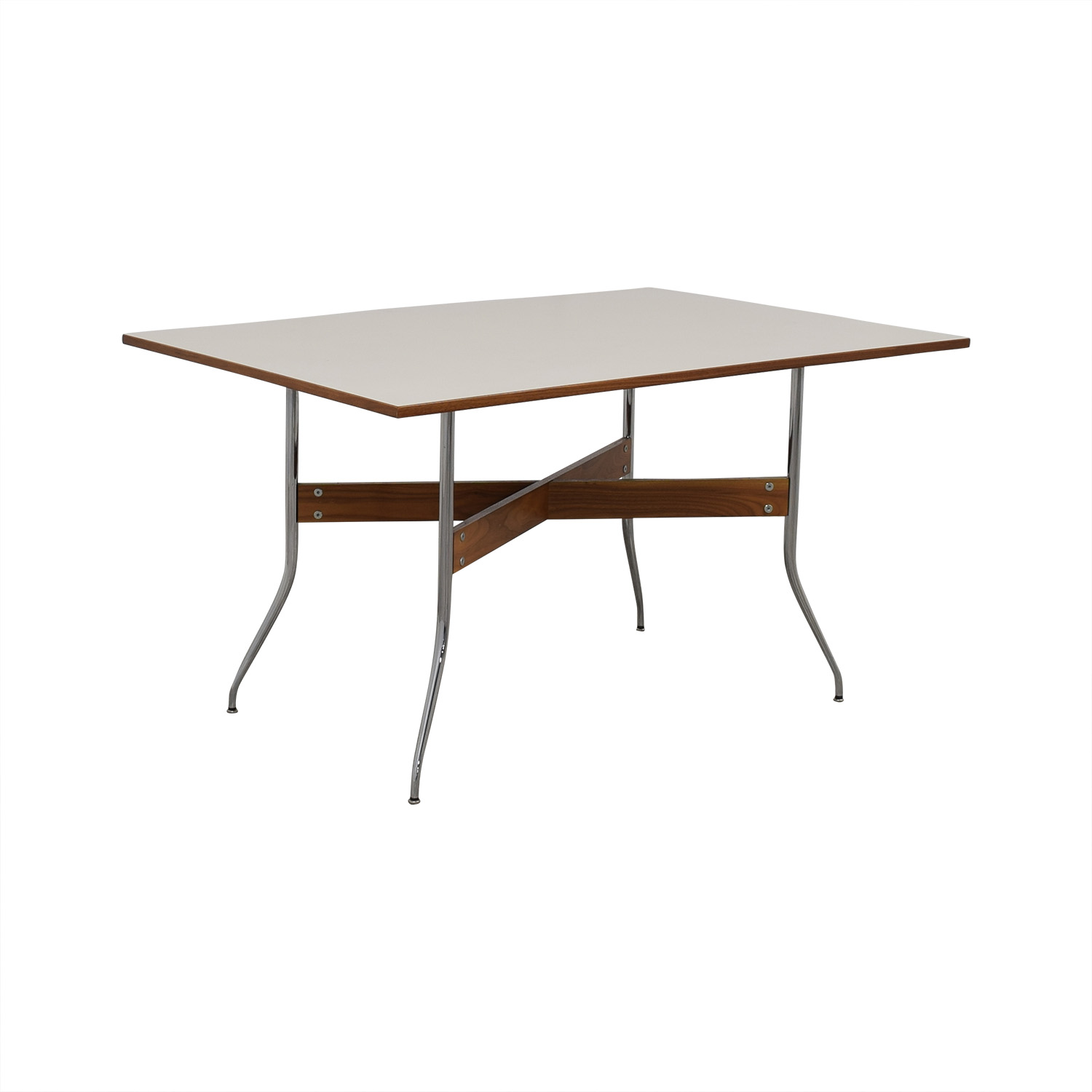 Herman Miller Herman Miller White George Nelson Swag Leg Dining Table with Rectangular Top coupon