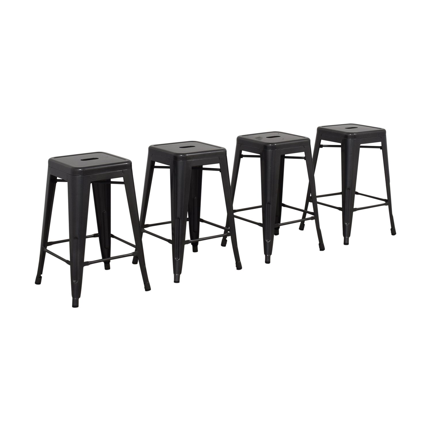 shop Titan Distressed Gunmetal Bar Stools Titan Chairs
