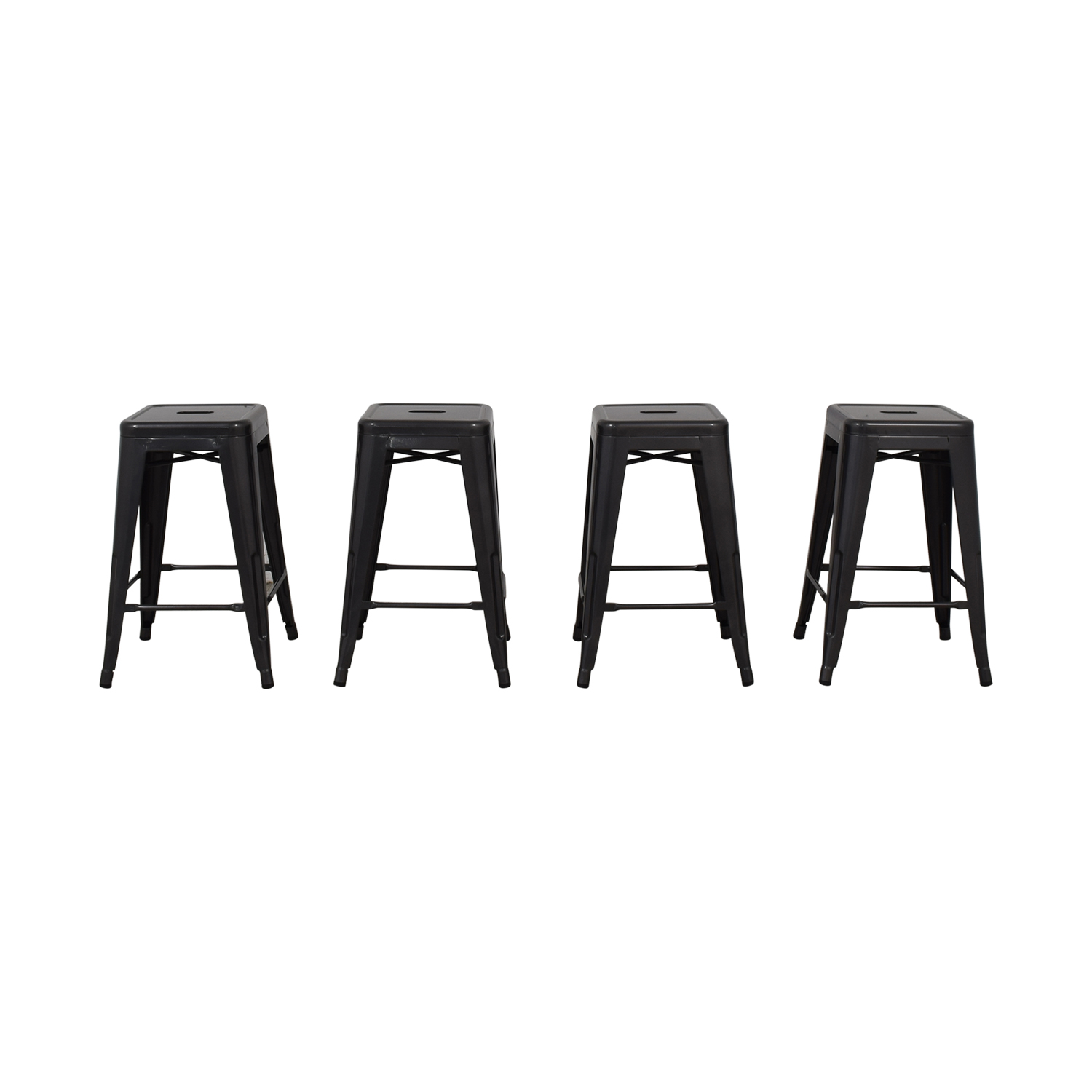 Titan Titan Distressed Gunmetal Bar Stools used