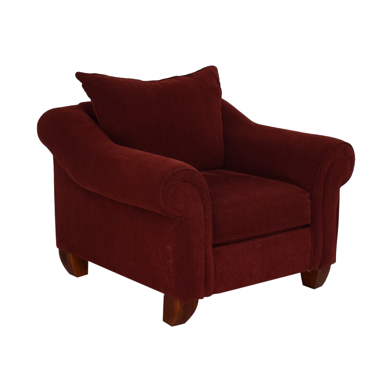 Raymour & Flanigan Raymour & Flanigan Red Arm Accent Chair Chairs