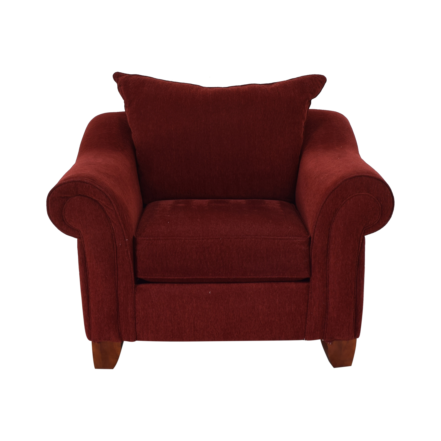 shop Raymour & Flanigan Red Arm Accent Chair Raymour & Flanigan Accent Chairs