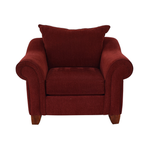 Raymour & Flanigan Raymour & Flanigan Red Arm Accent Chair on sale