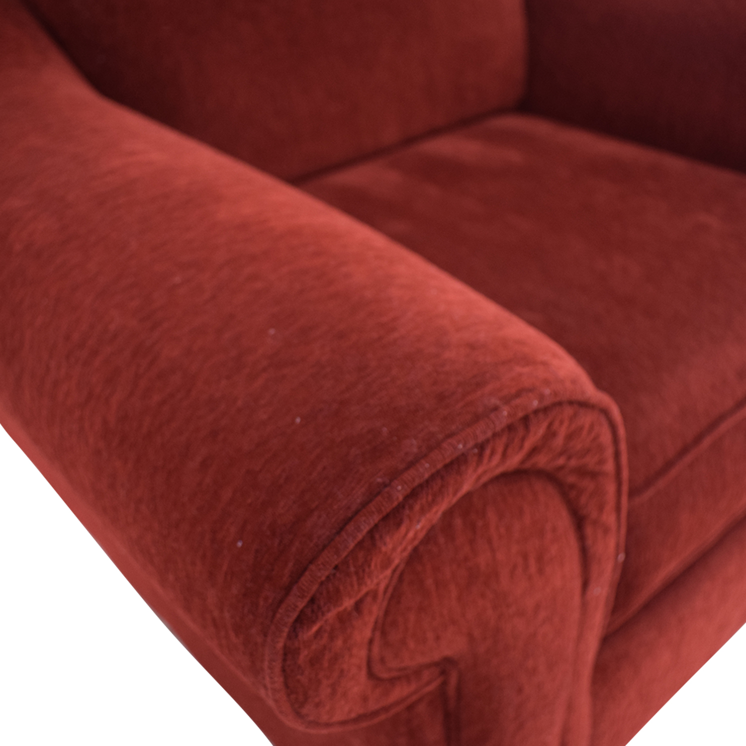 Raymour & Flanigan Raymour & Flanigan Red Arm Accent Chair discount