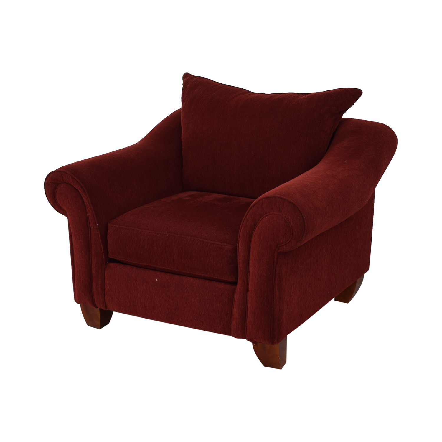 Raymour & Flanigan Raymour & Flanigan Red Arm Accent Chair coupon