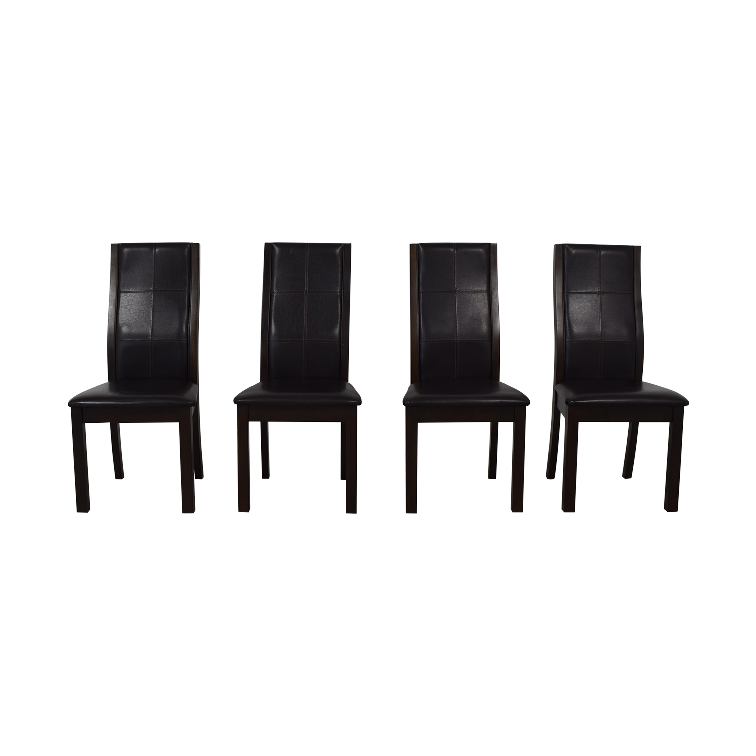 shop Raymour & Flanigan Brown Dining Chairs Raymour & Flanigan