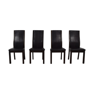 Raymour & Flanigan Raymour & Flanigan Brown Dining Chairs dimensions