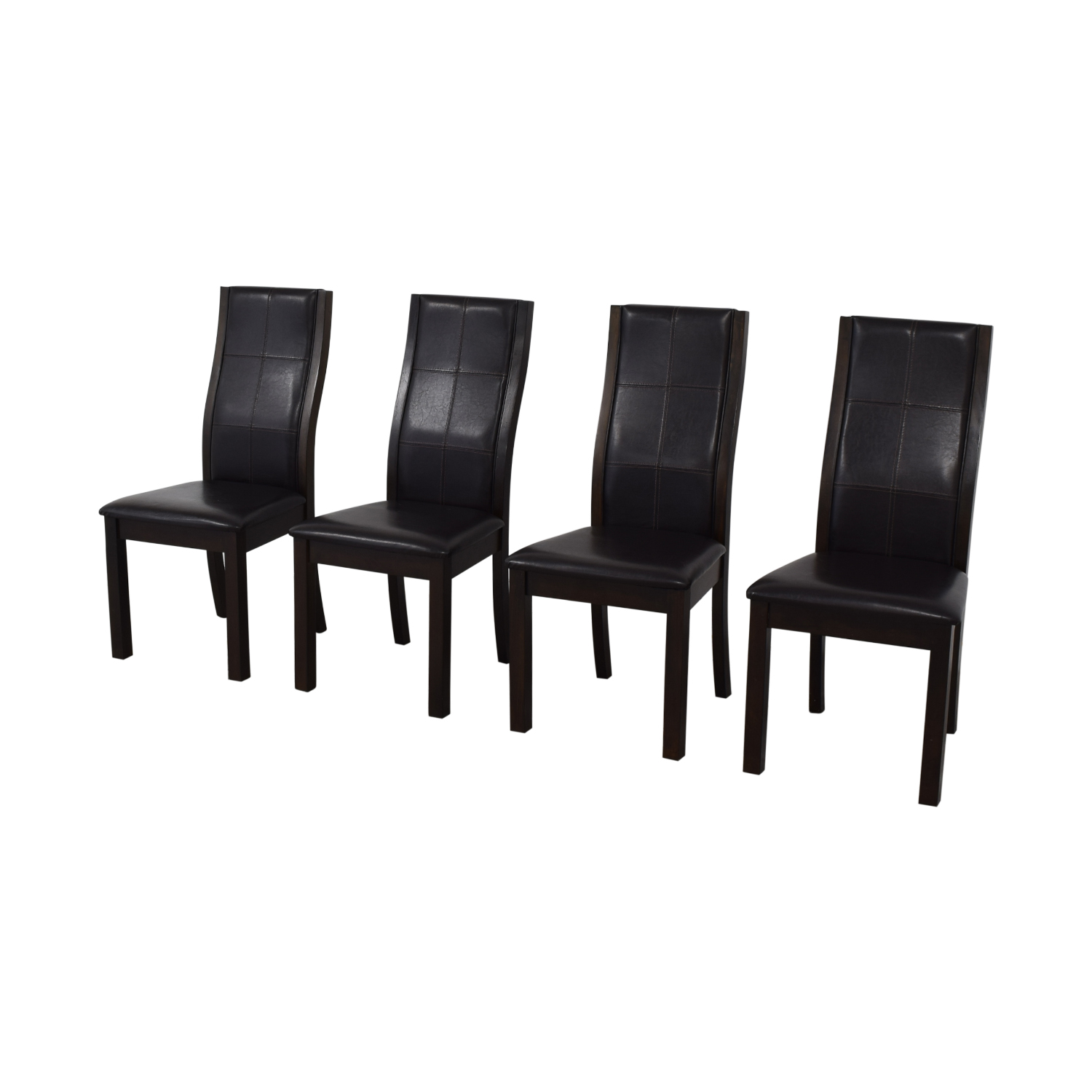 Raymour & Flanigan Brown Dining Chairs Raymour & Flanigan