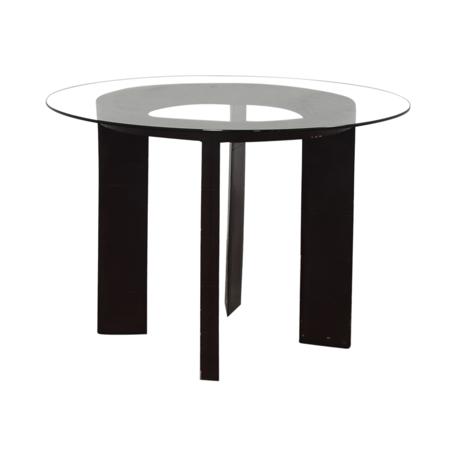 Glass Round Dining Table nyc