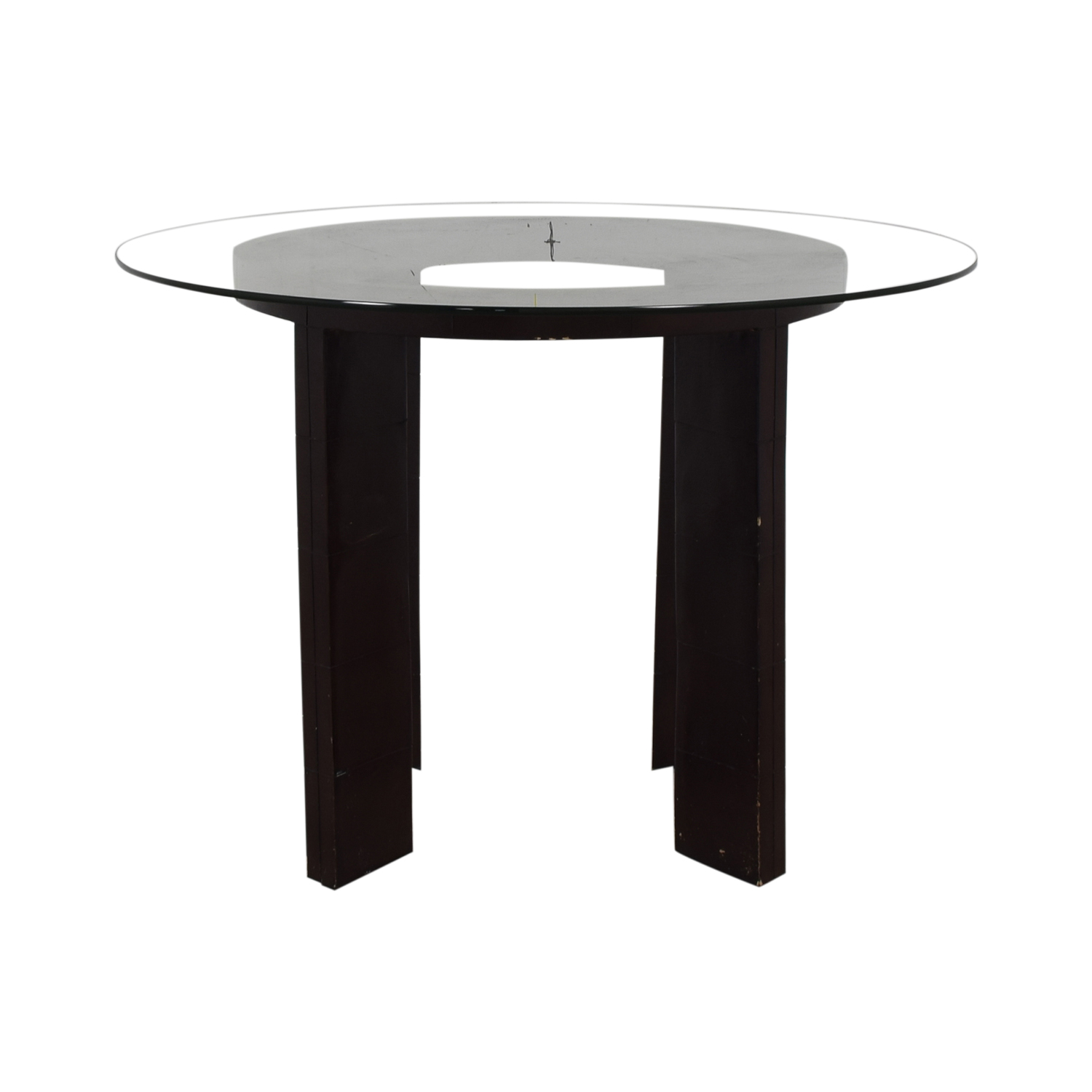 Glass Round Dining Table for sale
