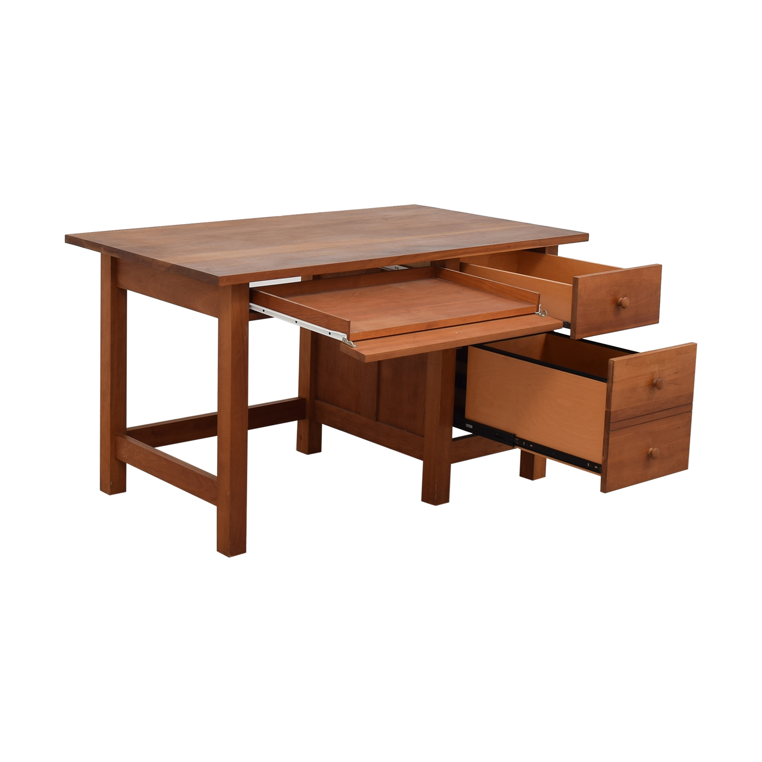 buy Vermont Furniture Designs Shaker Two-Drawer with Keyboard Tray Desk Vermont Furniture Designs Tables