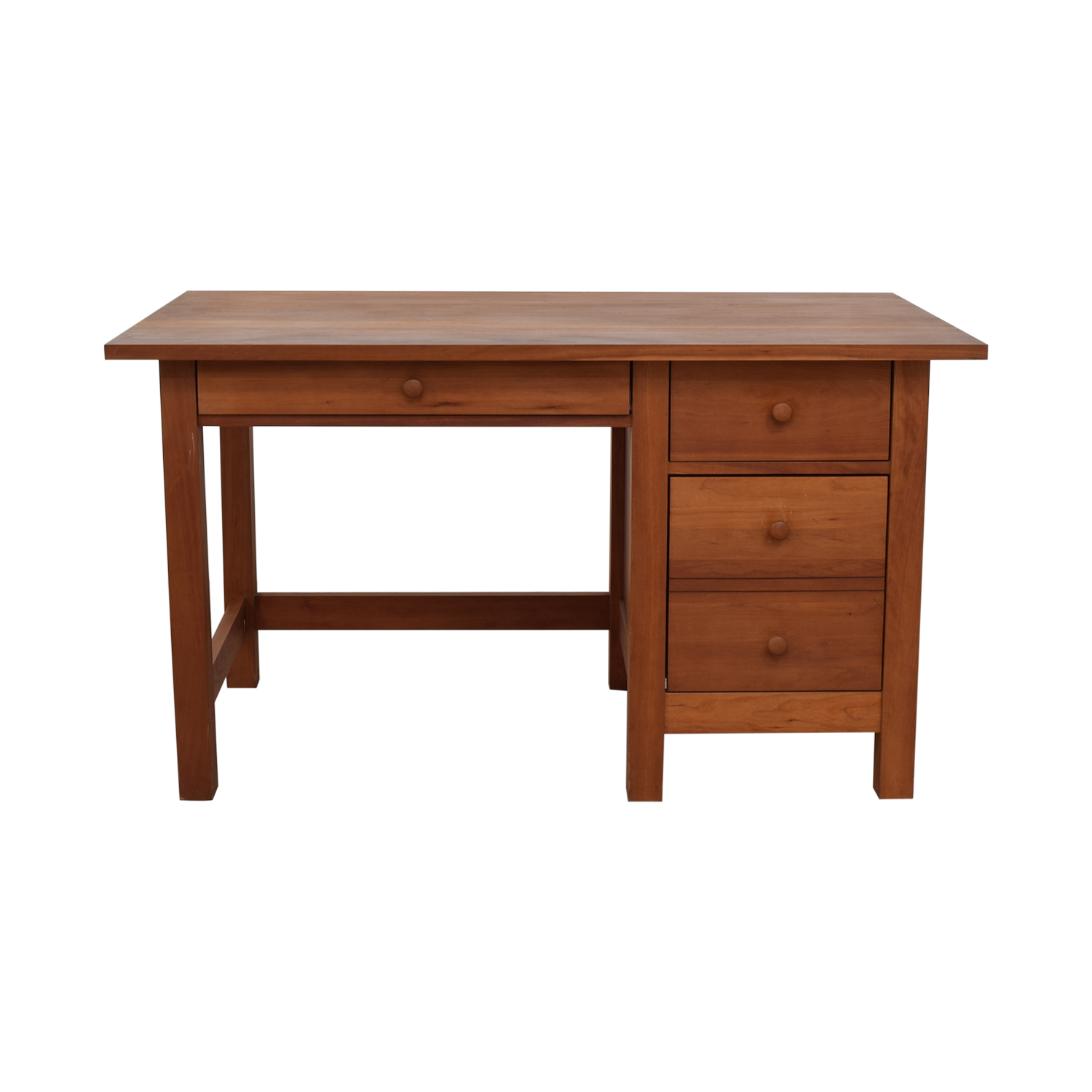 Vermont Furniture Designs Vermont Furniture Designs Shaker Two-Drawer with Keyboard Tray Desk Tables
