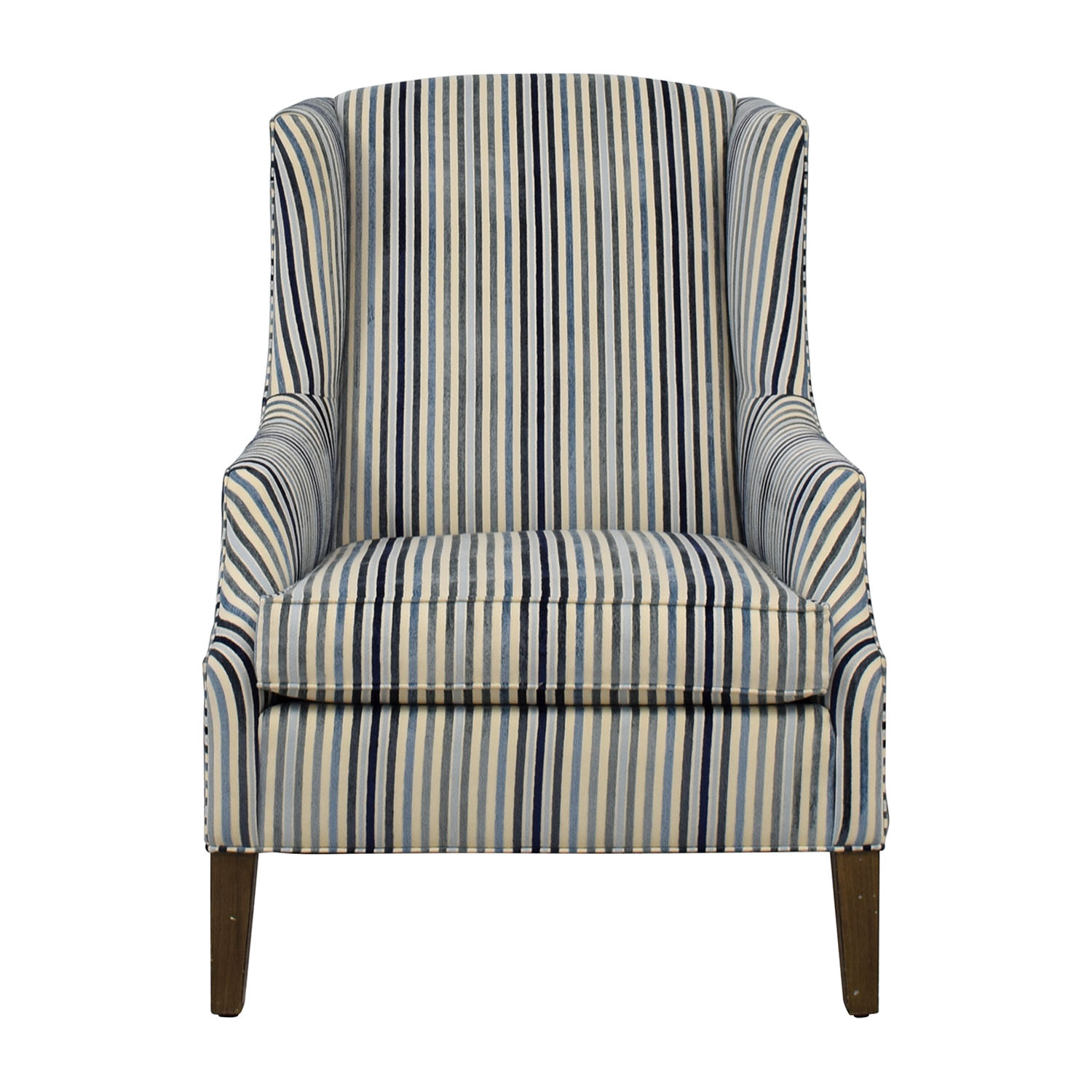 Ethan Allen Ethan Allen Custom Upholstered Striped Accent Chair Accent Chairs