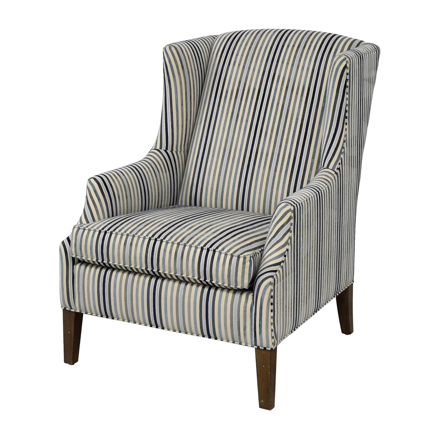 86 Off Ethan Allen Ethan Allen Custom Upholstered Striped Accent Chair Chairs