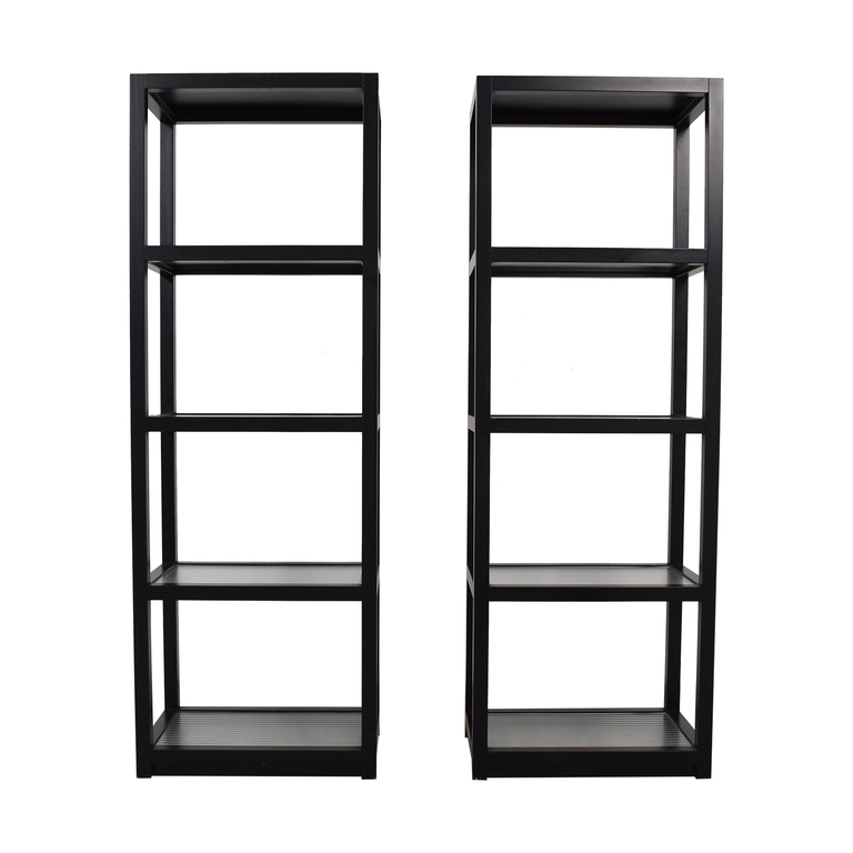 Tall Black Bookcases Storage