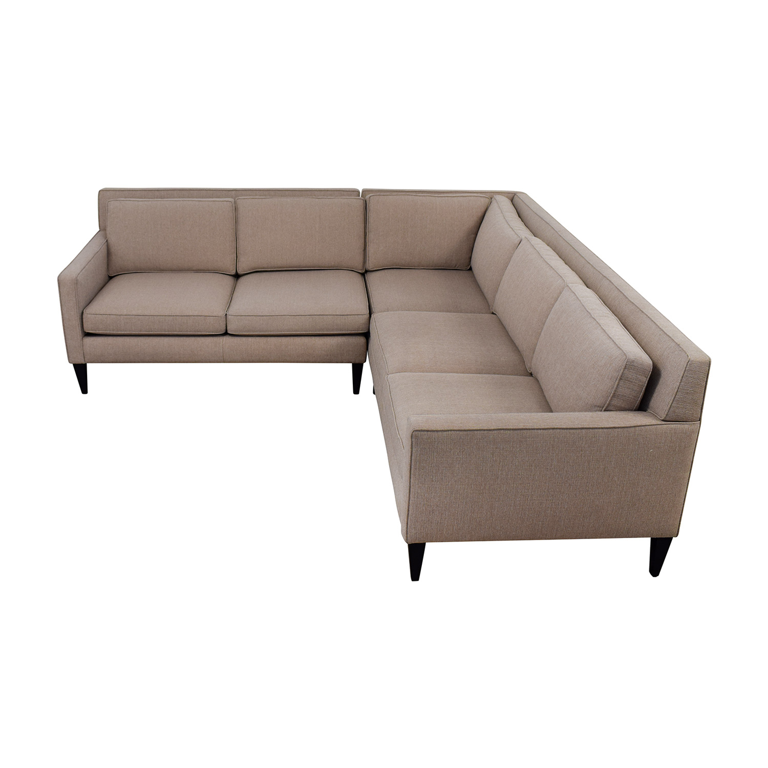 Crate & Barrel Crate & Barrel Rochelle Midcentury Modern Sectional for sale