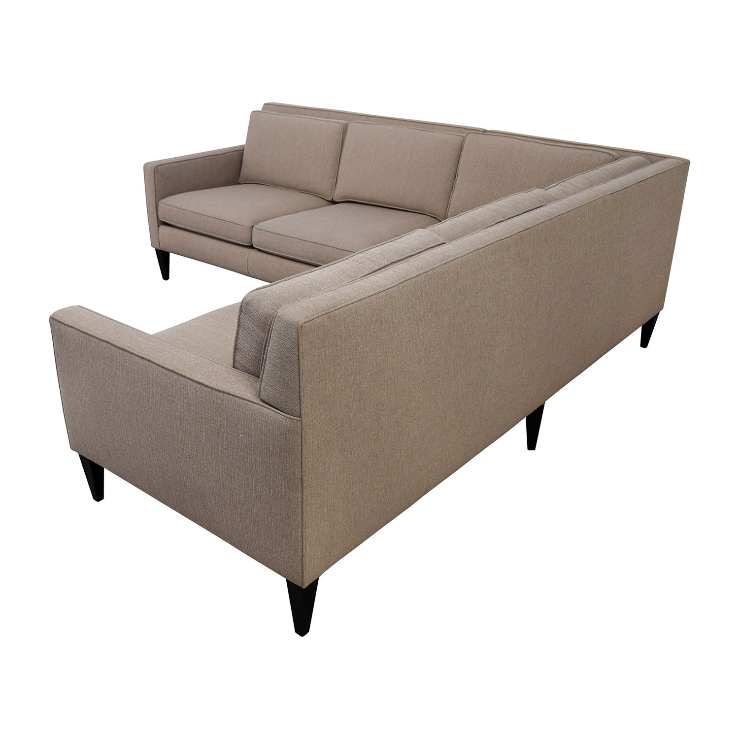 Crate & Barrel Rochelle Midcentury Modern Sectional / Sectionals