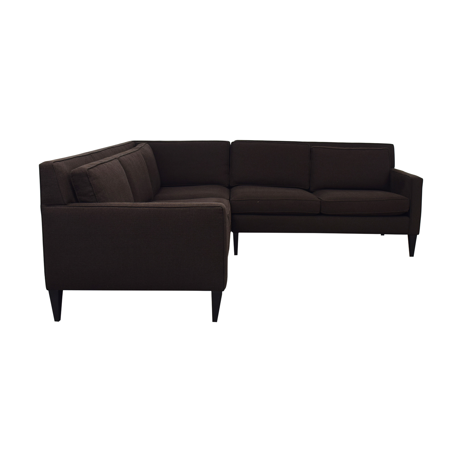 Crate & Barrel Crate & Barrel Rochelle Brown L-Shaped Sectional nj