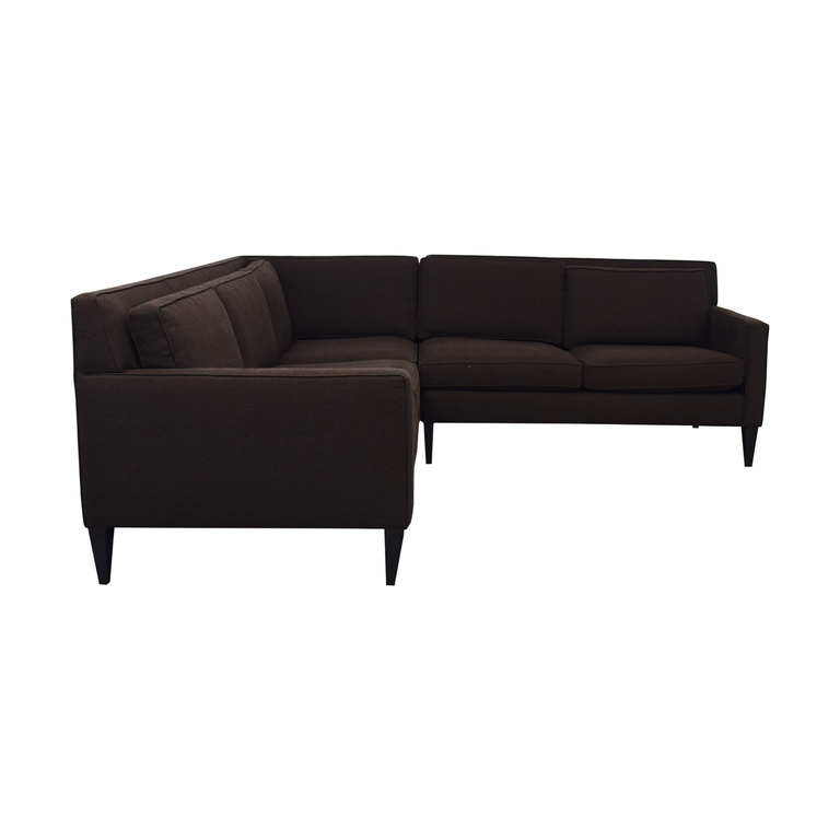 Crate & Barrel Crate & Barrel Rochelle Brown L-Shaped Sectional Sofas