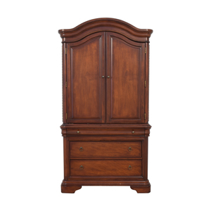 Macy's Macy's Four-Drawer Bordeaux TV Armoire dimensions