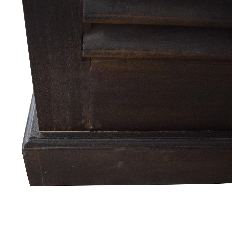 shop Arhaus Rustic Chocolate Brown Armoire Arhaus Wardrobes & Armoires