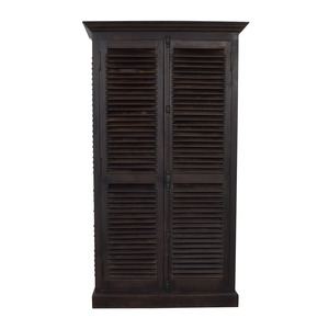 shop Arhaus Rustic Chocolate Brown Armoire Arhaus