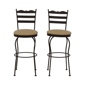 Brown Swivel Bar Stools