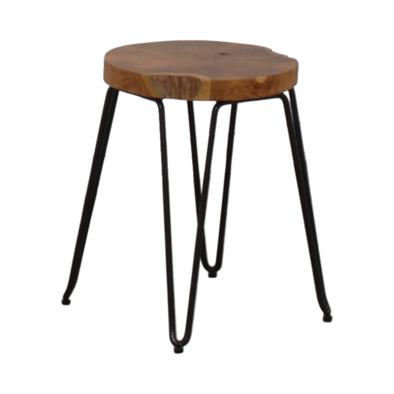 Crate & Barrel Distressed Wood Stool sale