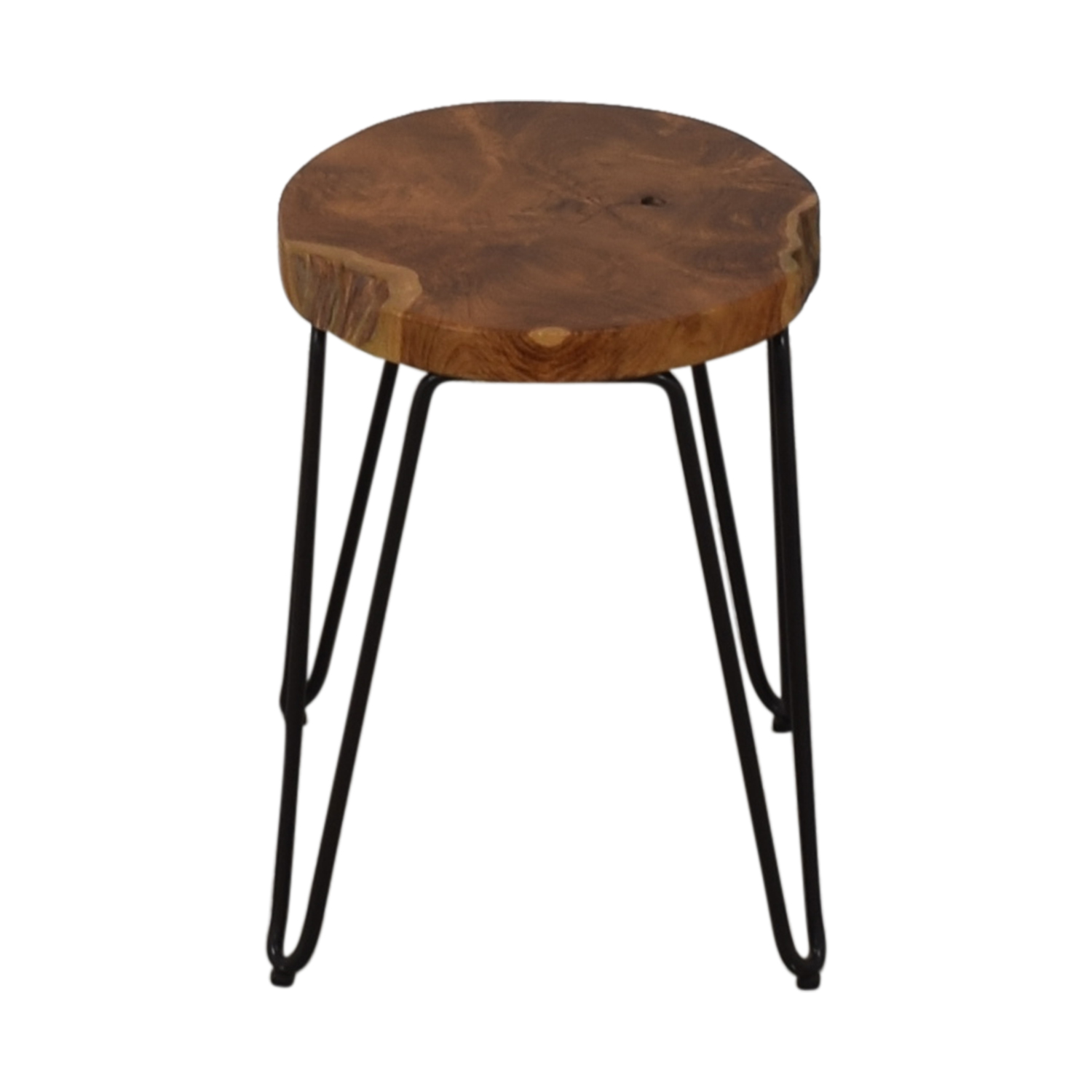 buy Crate & Barrel Distressed Wood Stool Crate & Barrel