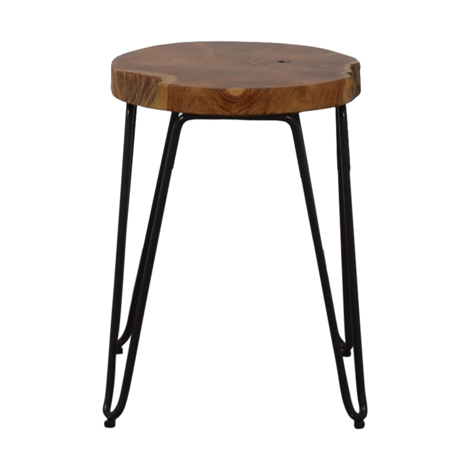 shop Crate & Barrel Distressed Wood Stool Crate & Barrel