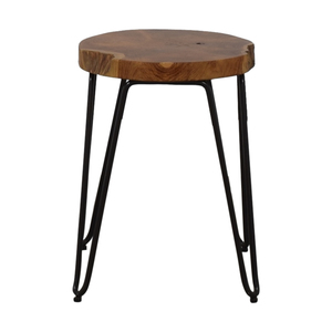 Crate & Barrel Distressed Wood Stool Crate & Barrel