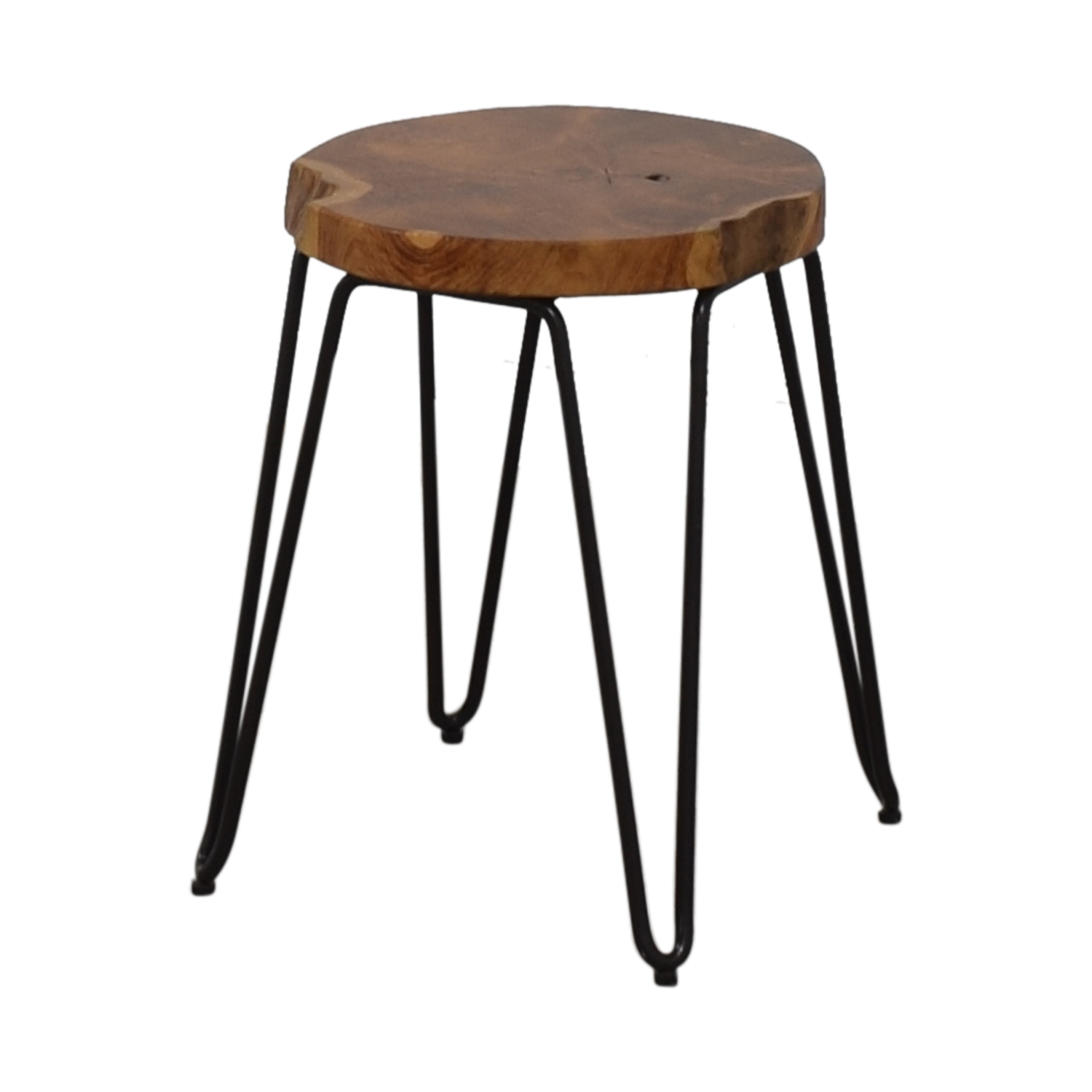 Crate & Barrel Crate & Barrel Distressed Wood Stool coupon