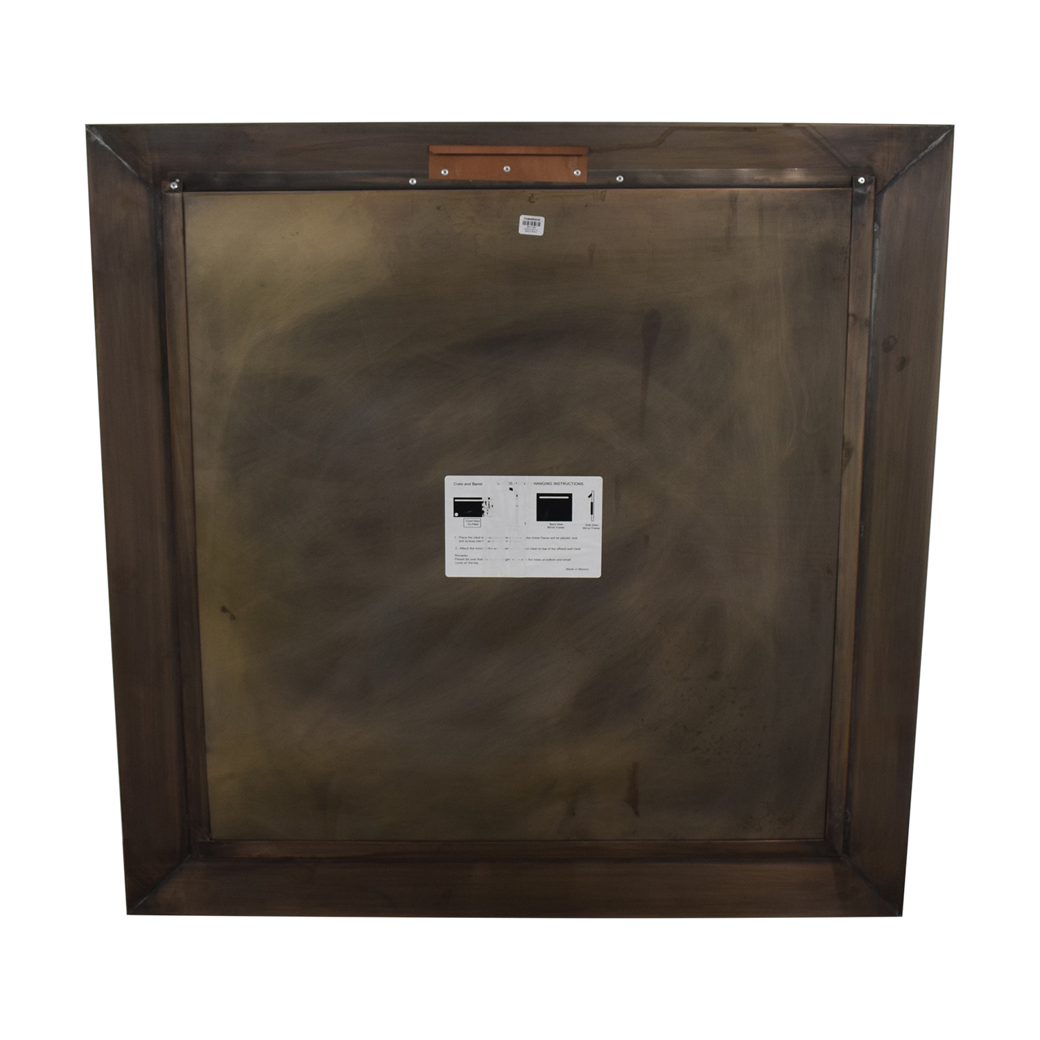 Crate & Barrel Crate & Barrel Dubois Square Wall Mirror on sale