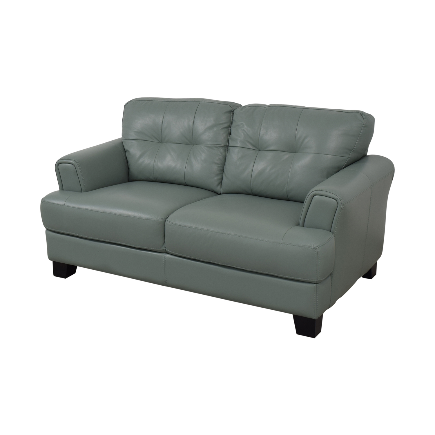 Chateau D'Ax Chateau D'Ax Seafoam Green Tufted Loveseat