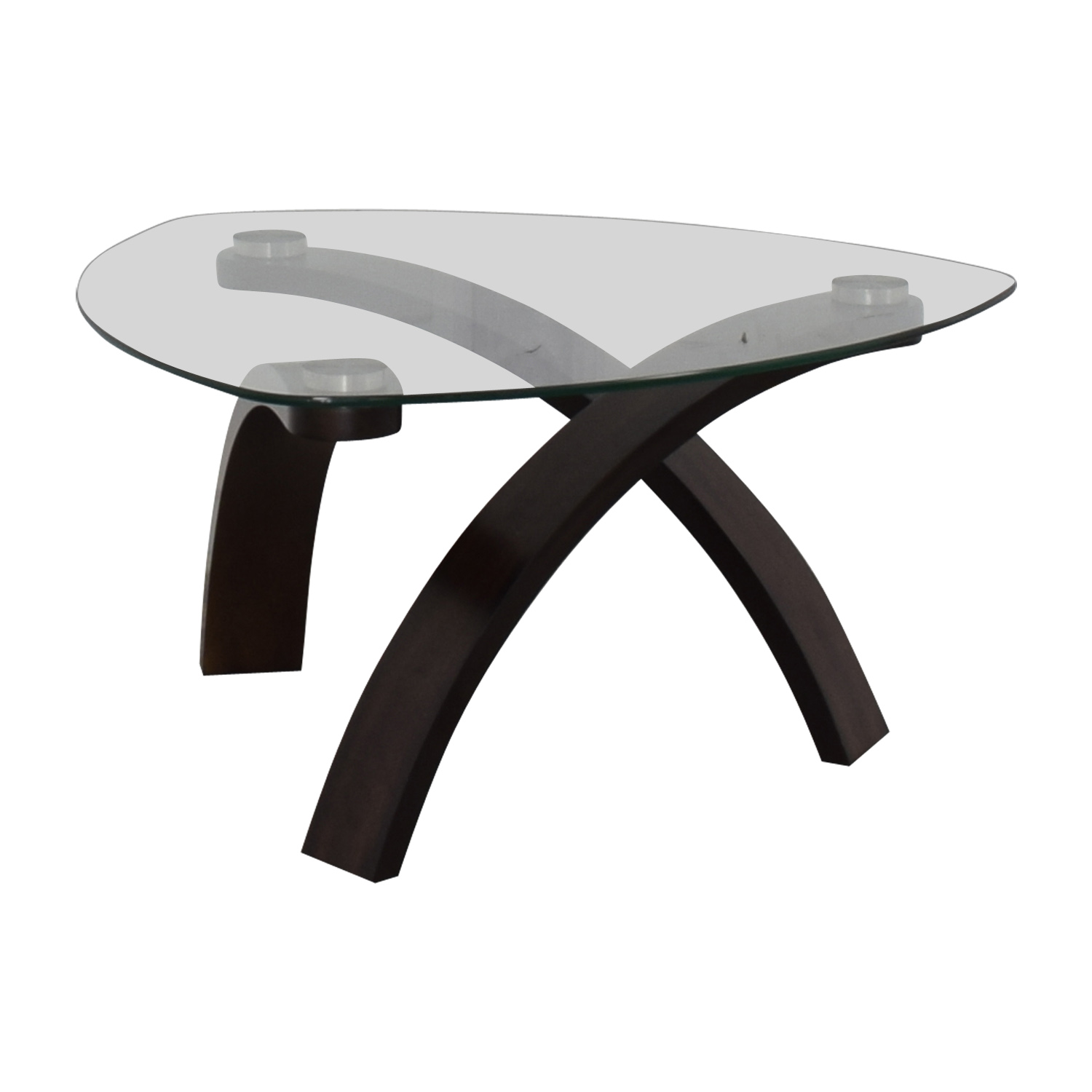 buy Raymour & Flanigan Raymour & Flanigan Allure Glass Coffee Table online