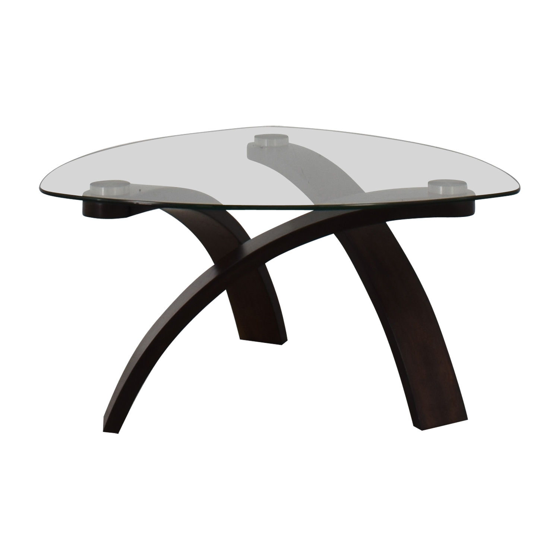 Raymour & Flanigan Raymour & Flanigan Allure Glass Coffee Table nyc