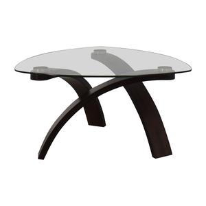 Raymour & Flanigan Raymour & Flanigan Allure Glass Coffee Table
