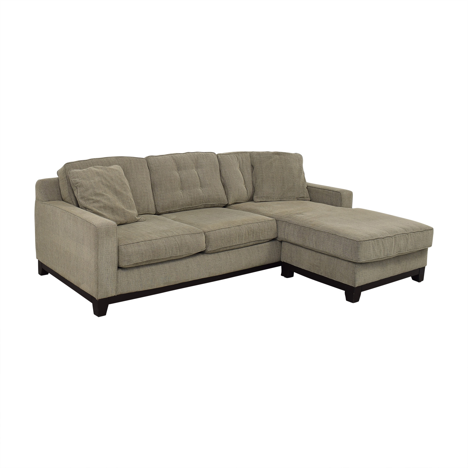 Macy's Macy's Grey Semi-Tufted Chaise Sectional coupon
