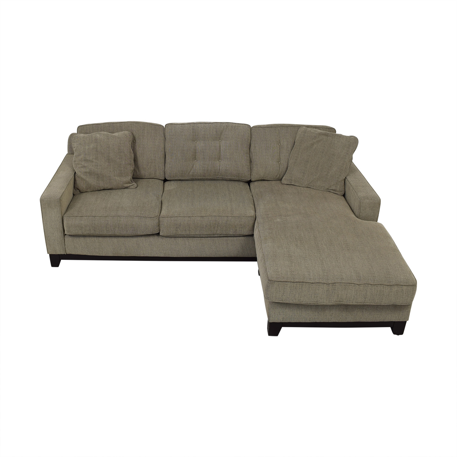 Macy's Grey Semi-Tufted Chaise Sectional Macy's