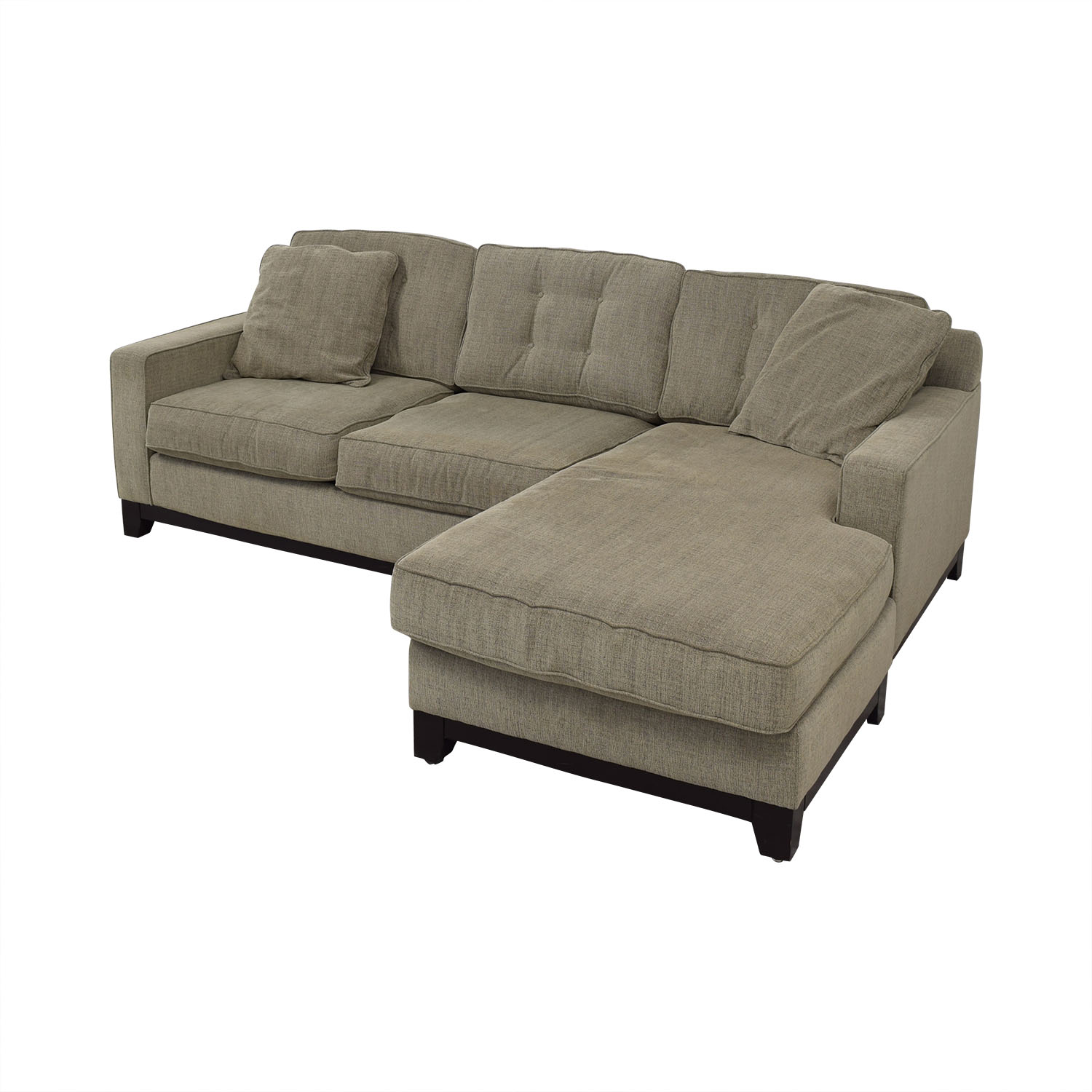 shop Macy's Macy's Grey Semi-Tufted Chaise Sectional online