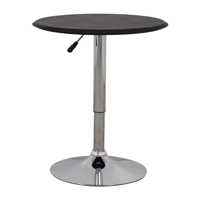 Black Modern Adjustable Pub Table black