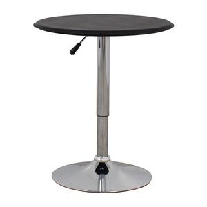 Black Modern Adjustable Pub Table second hand