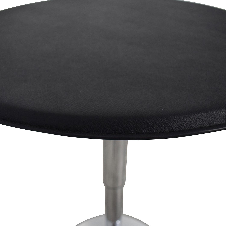 Black Modern Adjustable Pub Table dimensions