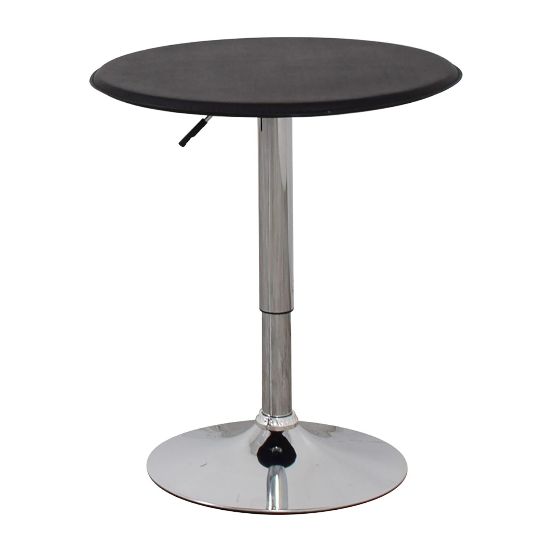 shop Black Modern Adjustable Pub Table  Accent Tables