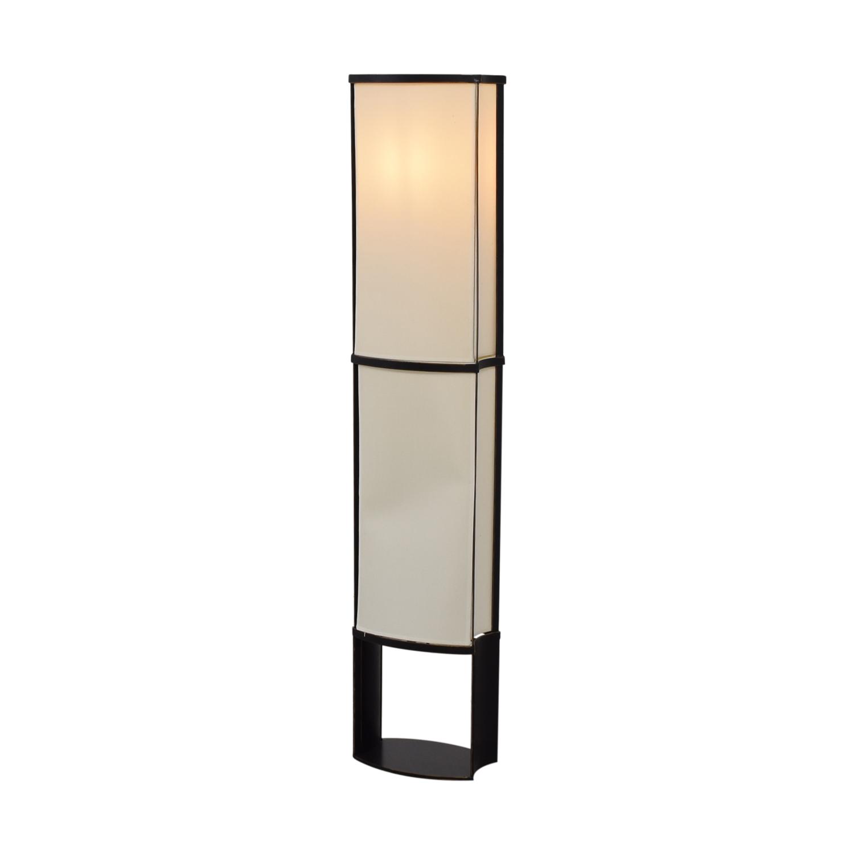 Black and Cream Floor Lamp dimensions
